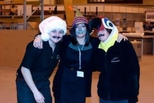 Girls final day of Movember hats