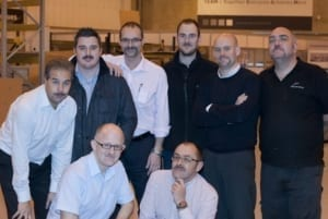 The guys showing off on the last day of Movember 2012