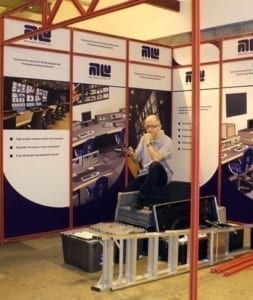 Neil with the ISE show stand