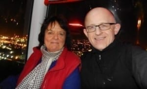 Neil and Liz on Emirates Airline