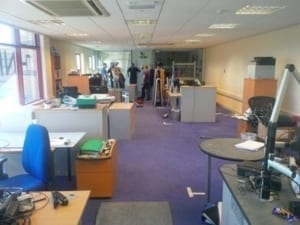 Thinking Space office refurbishment - Moving out
