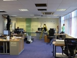Thinking Space office refurbishment - Day 1
