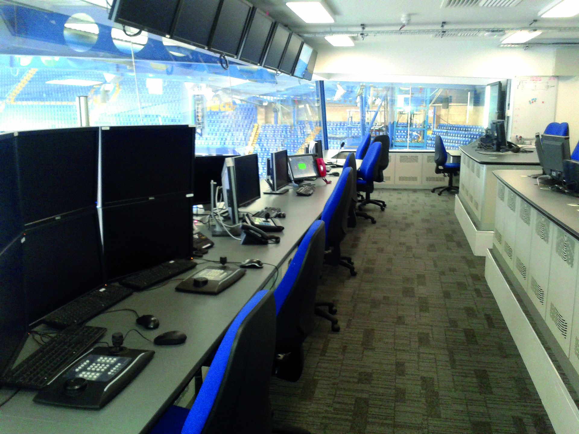 control room furniture sporting arena