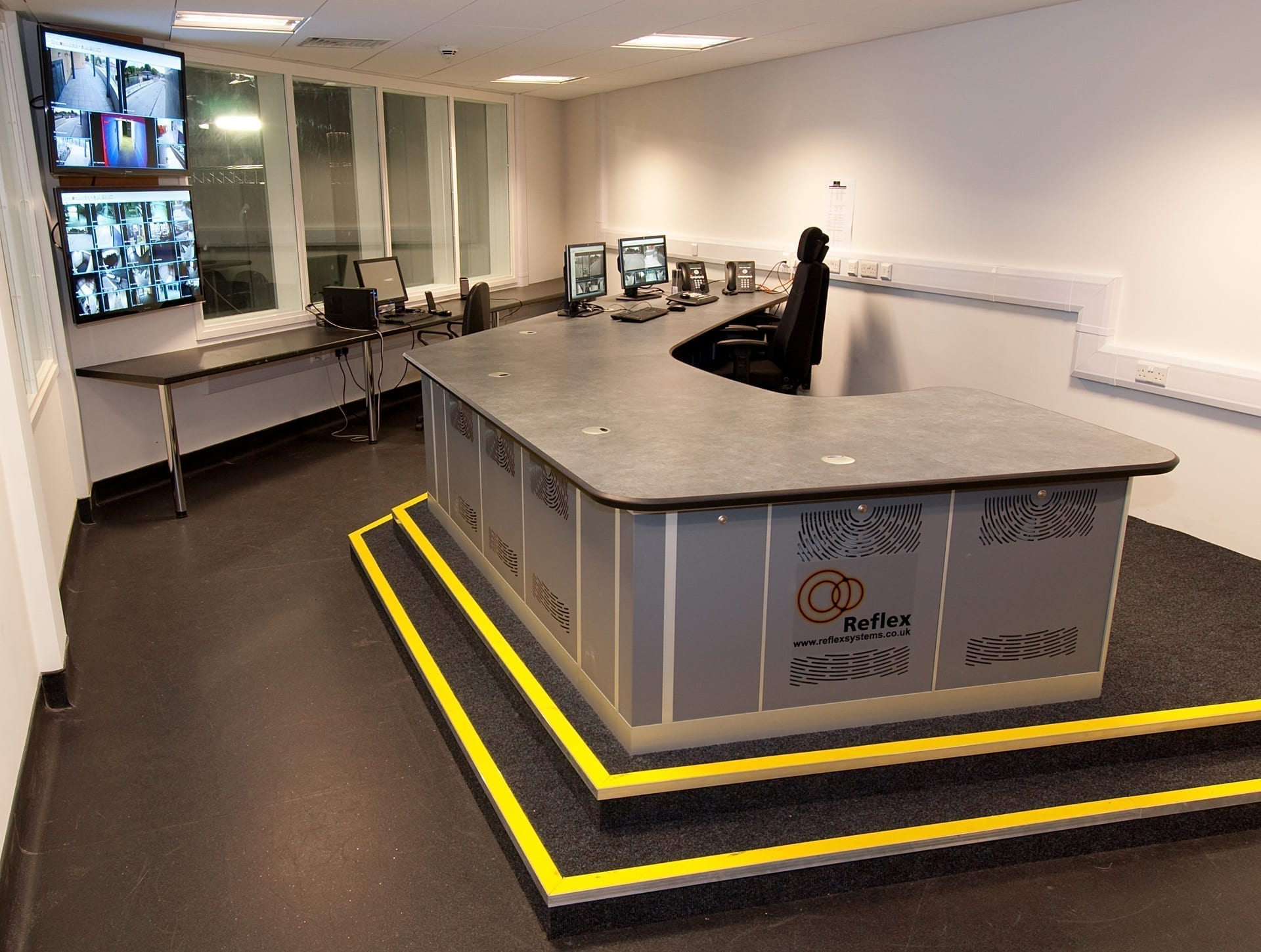 Control Room Furniture Property security consoles and control room furniture | thinking space systems