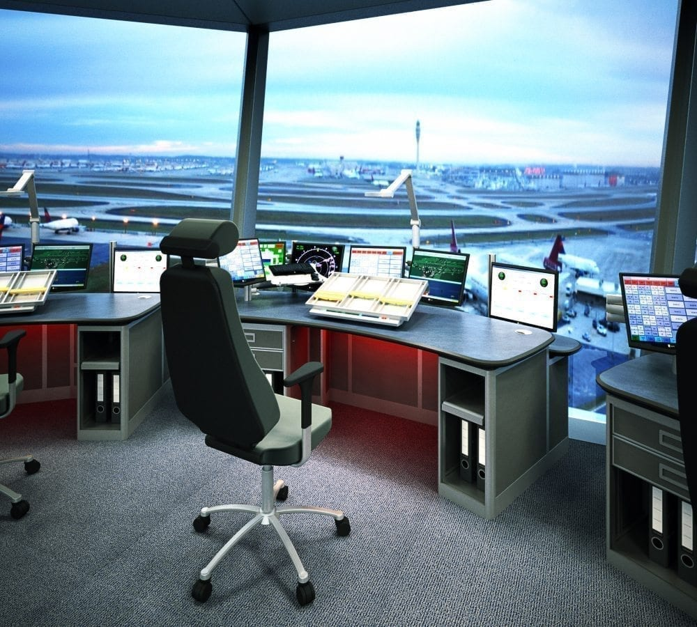 render drawing atc control tower