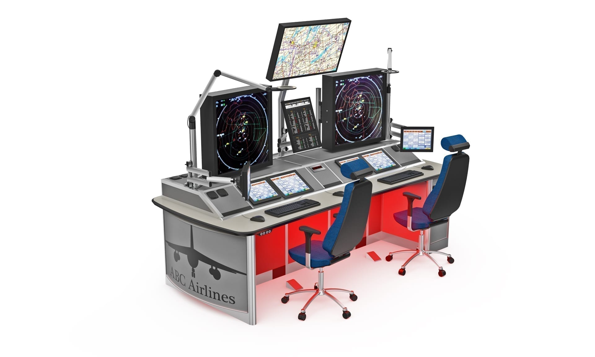 Thinking space ATC radar console typical example