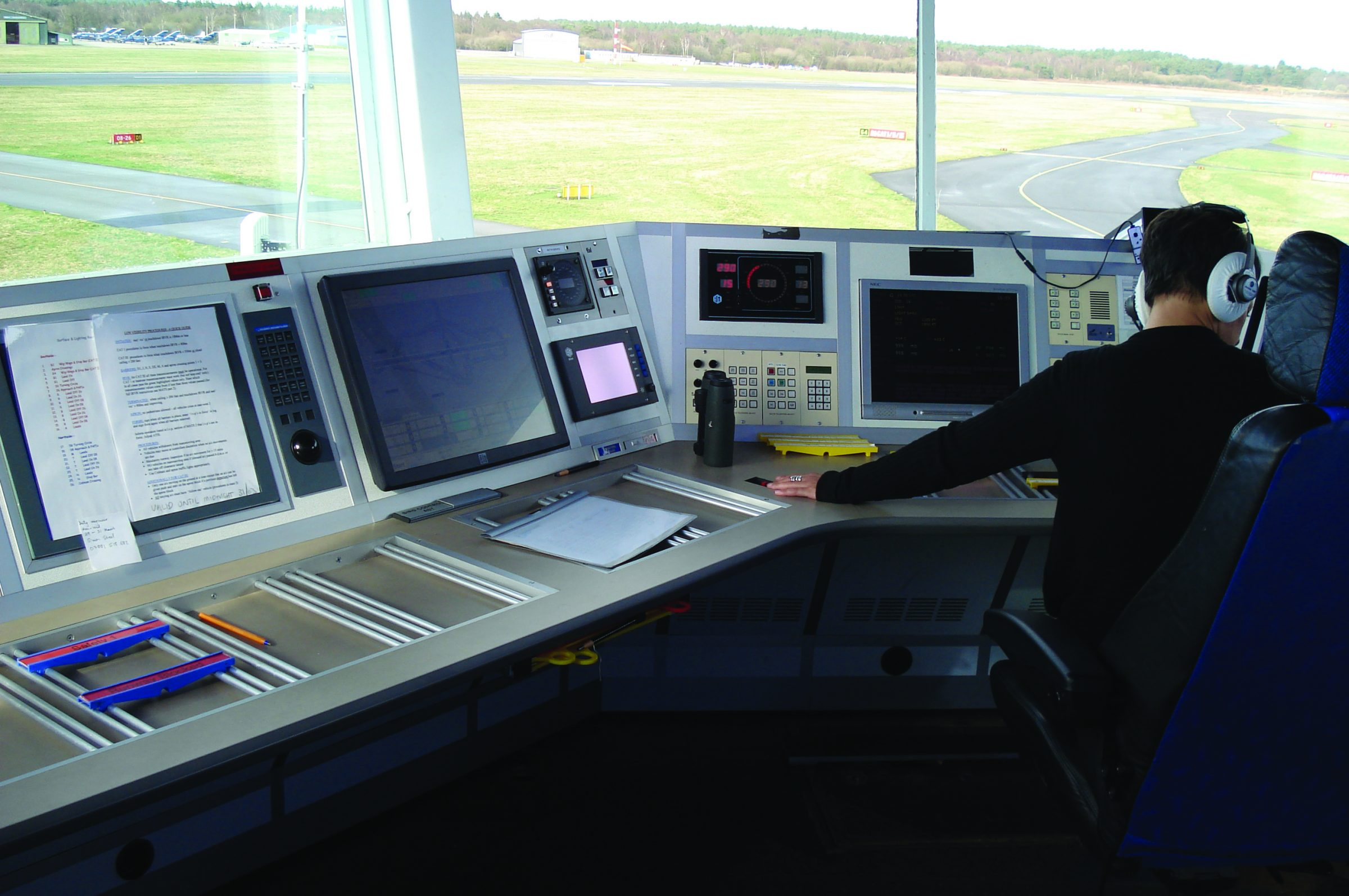 air traffic control console example