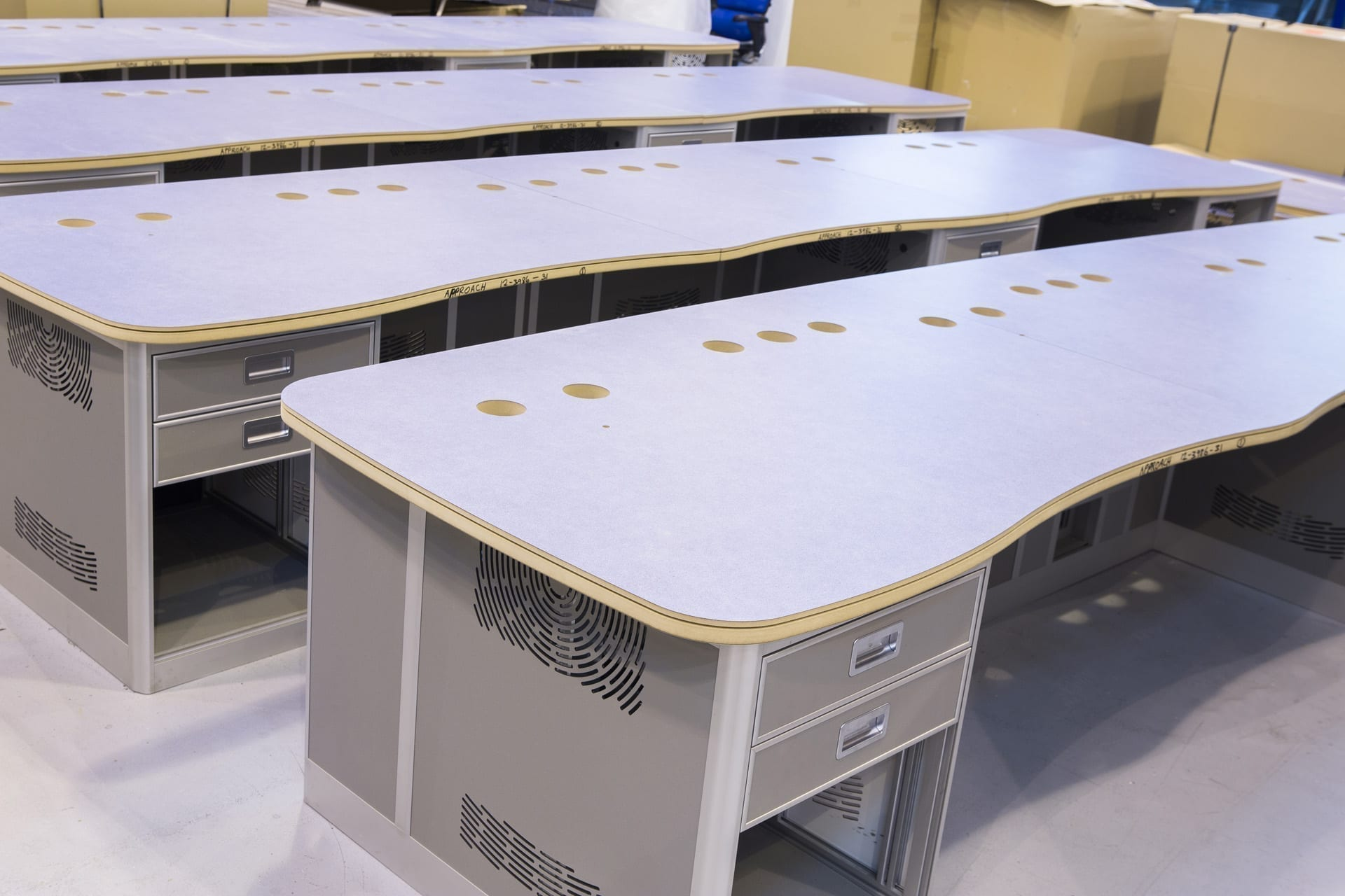 multiple desks factory image