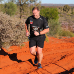 Lee completing in the Australian Outback Half Marathon