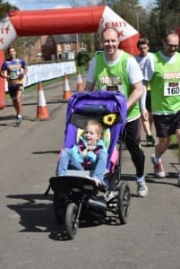 neil running with lexi lap