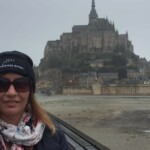 Emma at Mont Saint Michel
