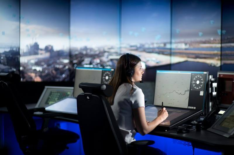 close up of consoles for London City Airport