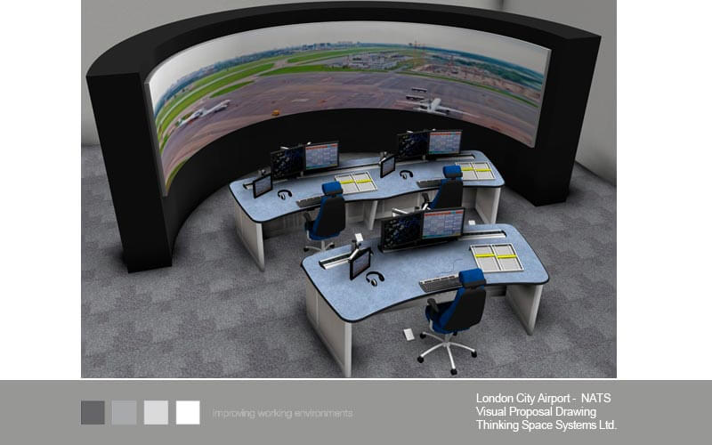 London City Airport visualisation drawing from Thinking Space Systems