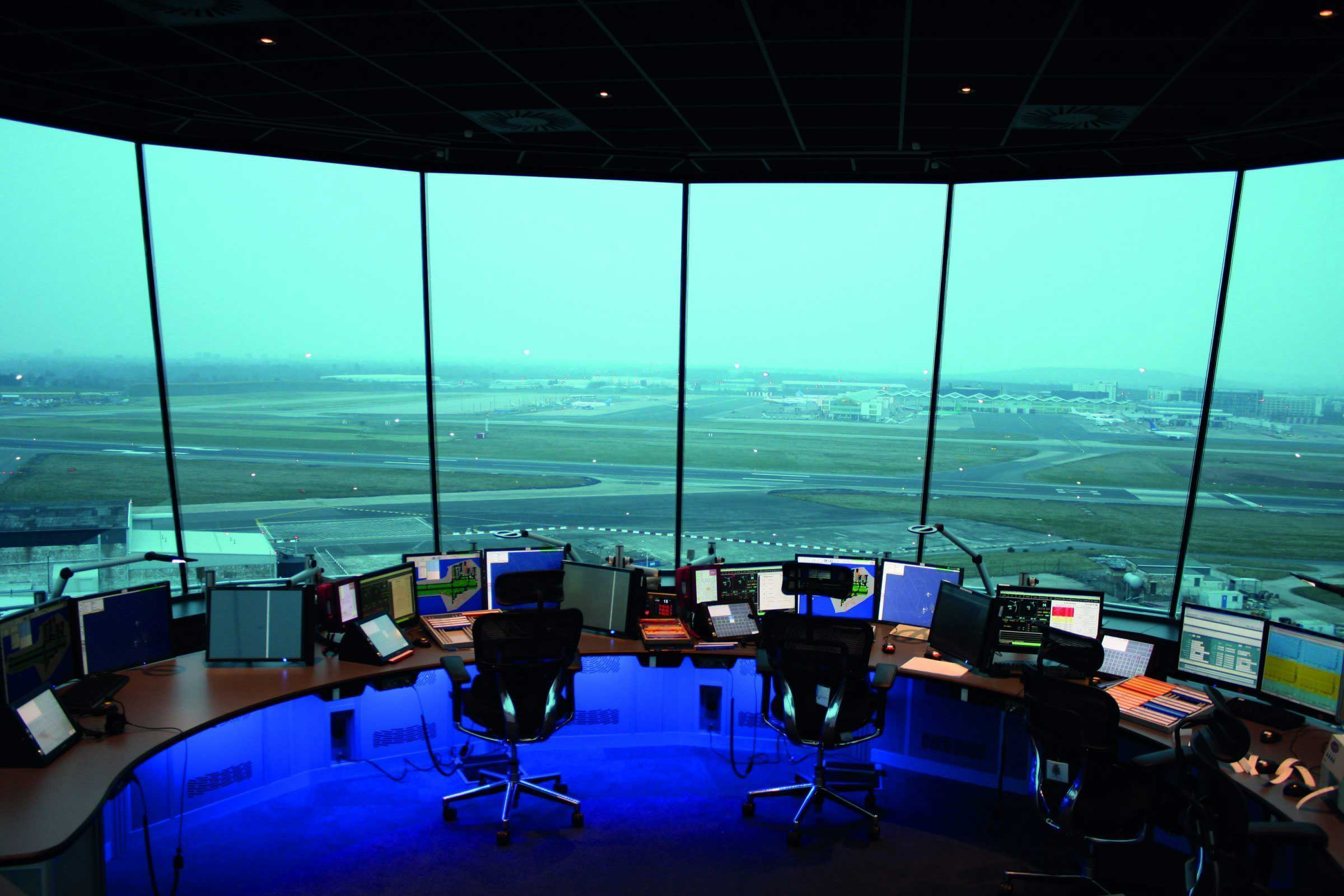 Air Traffic Control Tower Console Example