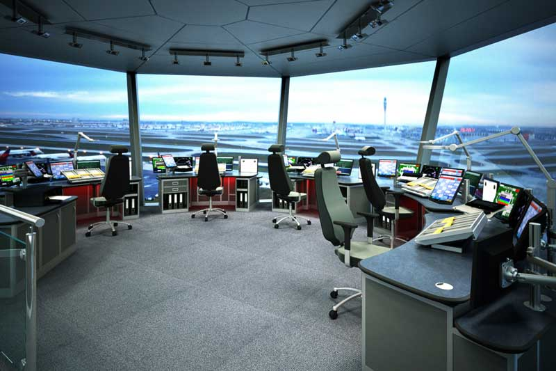 design render example ATC tower