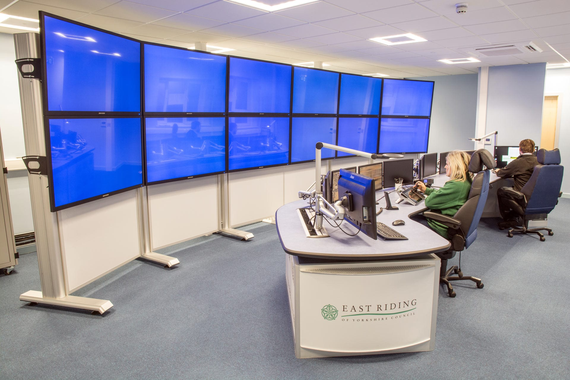 Bridlington CCTV control room new Thinking Space Systems