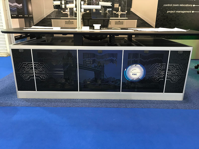 printed panel custom design for IFSEC 2019 removable panels