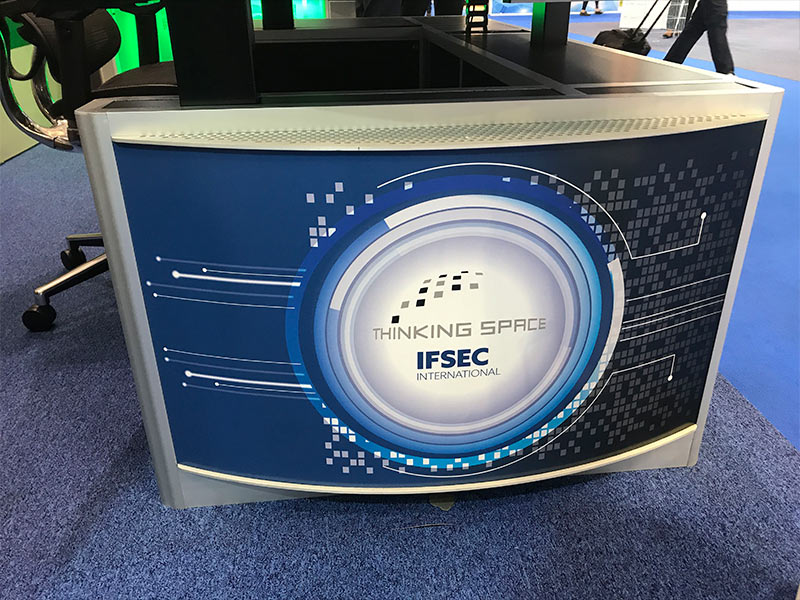 printed panel custom design for IFSEC 2019 end panel