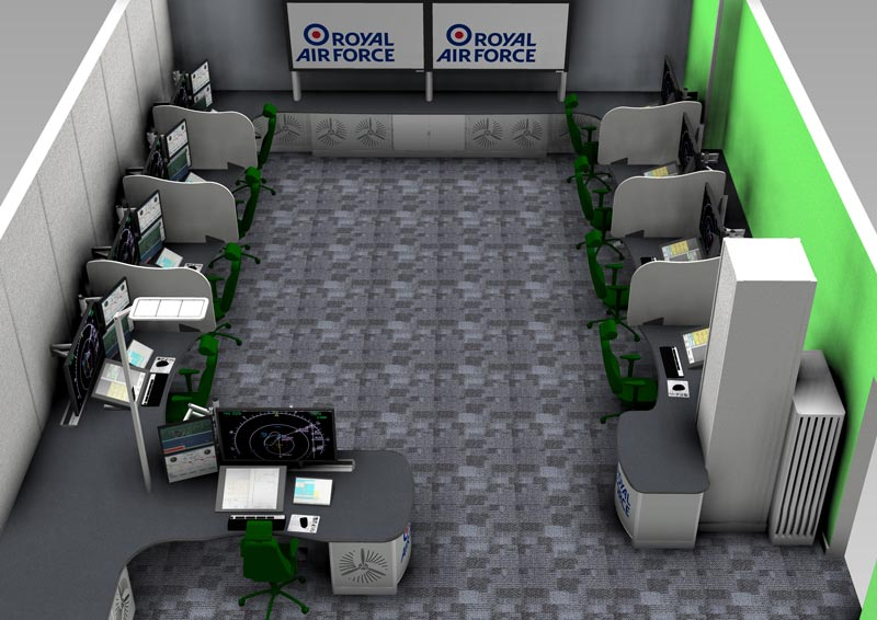 3D render NATS military training suite