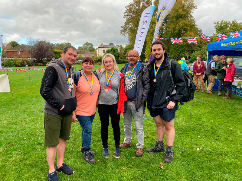 walk the test way 2019 at the finish line