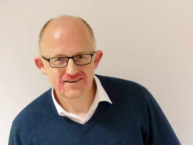 Movember 2019 Neil goes pink