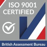 ISO 9001 certified logo _Thinking Space Systems