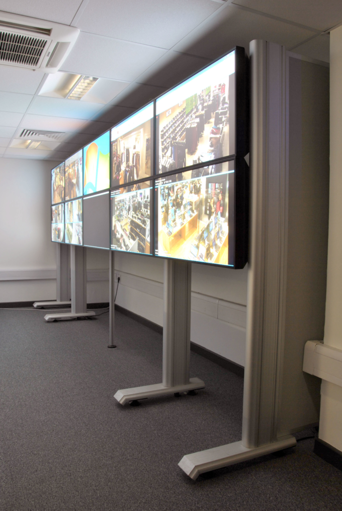 Evolution media wall John lewis oxford street store security control room