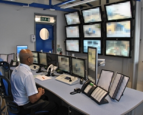 Control Room Furniture Property cctv control room case study | thinking space systems